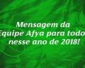 2018 – Mensagem da Equipe Afya